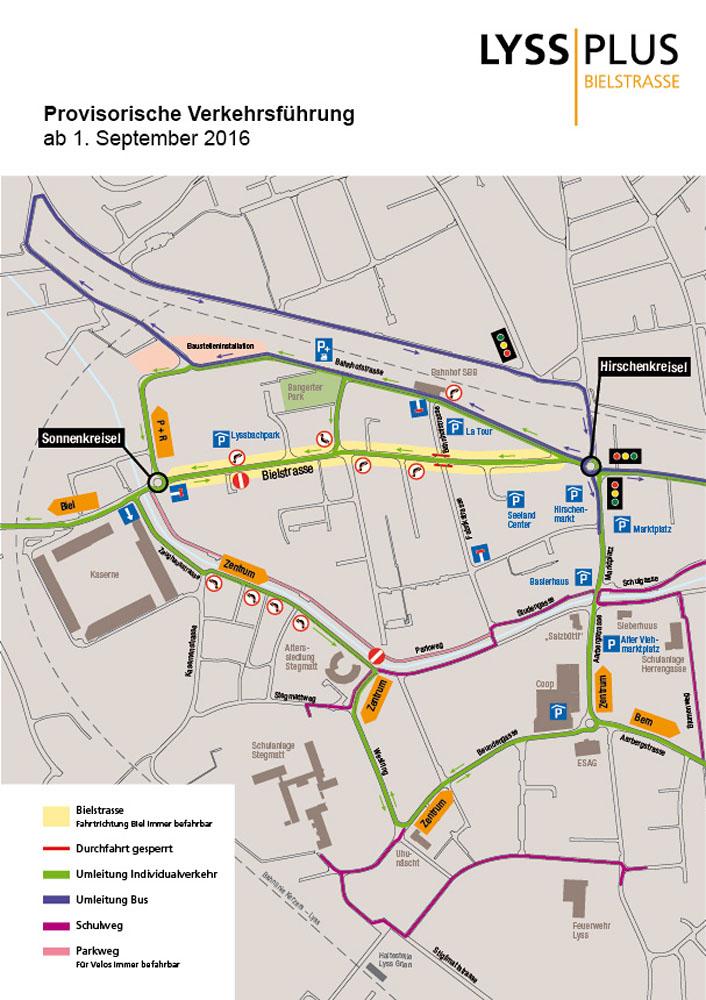 Provisorische Verkehrsführung ab 1. September 2016