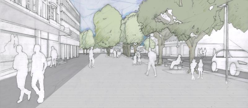 Visualisierung Marktplatz